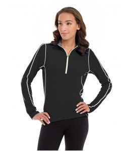 Olivia 1/4 Zip Light Jacket-L-Black
